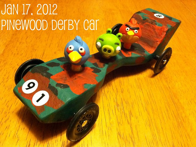 Pinewood Derby Car - Angry Birds Style!