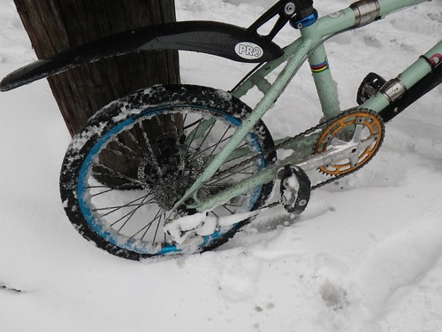 Davdison BMX in the snow