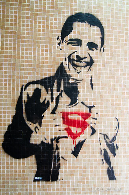 Superman Obama Streetart Stanley Hong Kong