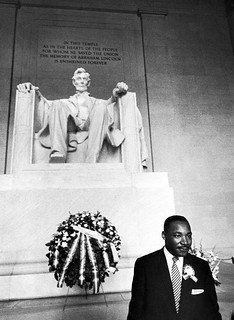 MLK Jr at the Lincoln Memorial