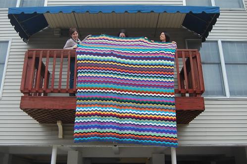 Josh's ripple blanket