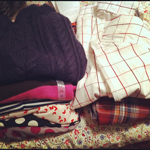 Hadn't been to old navy in forever. I got Dave 2 dress shirts and for me a skirt, 2 sweaters and 3 blouses $48!