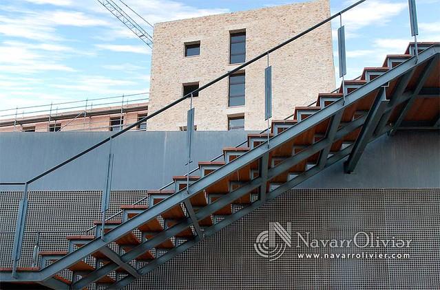 Escalera de metal y madera para exteriores escalera para - Escaleras de madera ...