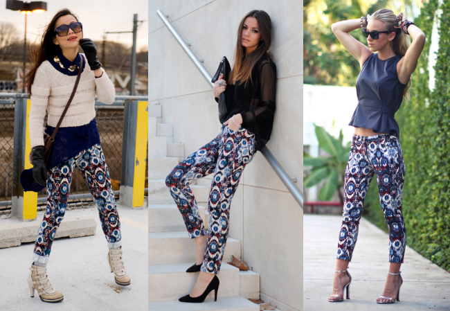 Zara printed pants-2