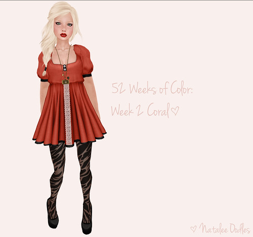 52 Weeks of Color Challenge: Week 2 Coral ; TWO