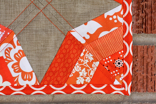 Tangerine Slices Mini Quilt by jenib320