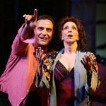 Dominic Fumusa as Alvaro Mangiacavallo and Andrea Martin as Serafina delle Rose in the Huntington Theatre Company's production of The Rose Tattoo presented at the BU Theatre / Avenue of the Arts. Part of the 2003-2004 season. Photo Credit: T Charles Erickson