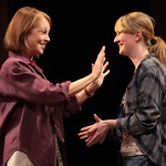 Laurie Jameson (Maureen Anderman, l.) welcomes her daughter Emily (Halley Feiffer) home from college in the Huntington Theatre Company's production of Third by Wendy Wasserstein, playing at the BU Theatre, part of the 2007-2008 season. Photo: T. Charles Erickson