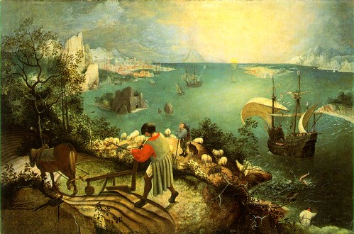 Bruegel the Elder: Icarus by jimforest