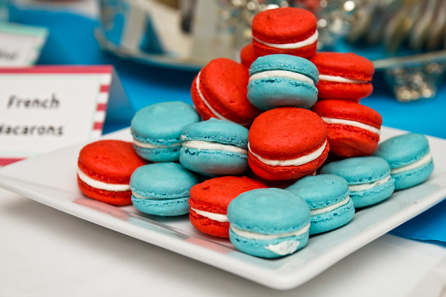 Tropical Punch & Blue Raspberry Lemonade Macarons