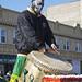 Drummer drumming