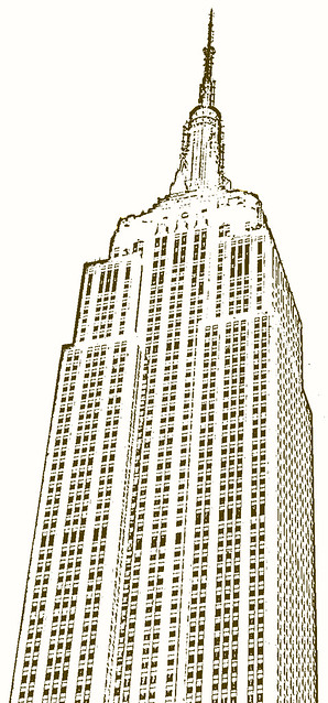 "Empire State Building Sketch | This is my ""pseudo sketc ..."