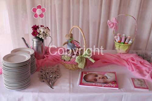Batizado da Margarida - Tema Flores