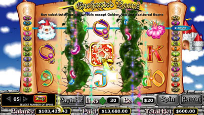Enchanted Beans free spins