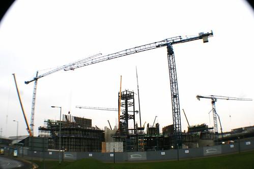 Cranes at Clyde Auditorium