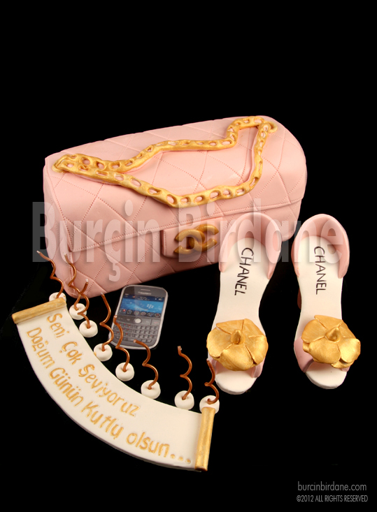 Chanel Handbag & Shoe Cake