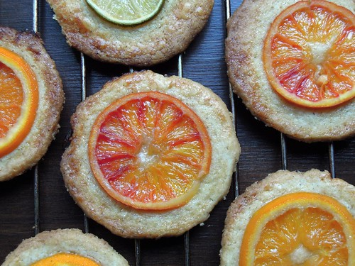 All-spice cookies with candied oranges