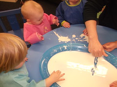Babies Playing with Gloop