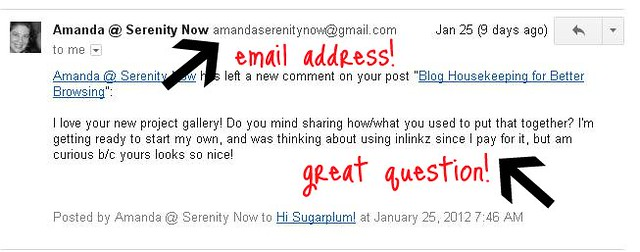 reply blogger email