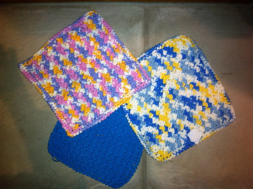 Crocheted Washclothes (by me)