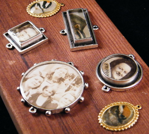 resin bezel, vintage photos or illustrations by KimWJenkins