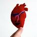 heartfelt felt heart by Klara Kim