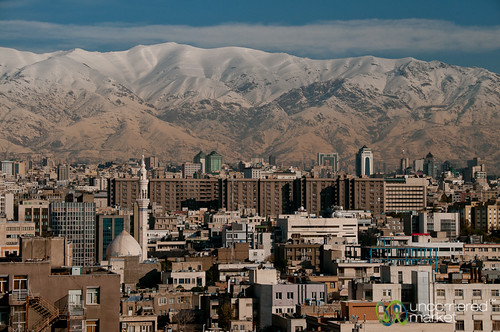 Tehran and Snow-Capped Mountains - Iran