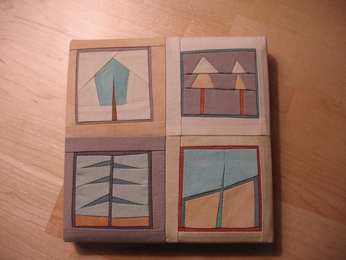 Mini quilts by Erin Wilson