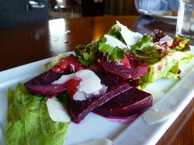 Beet Salad   Beet salad with sheep cheese, citrus, and lettu ...