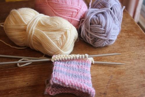 knitting bunny softie