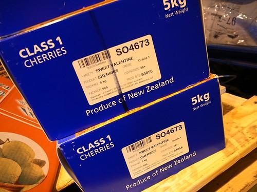 紐西蘭櫻桃外箱