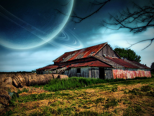 Abandoned barn Sci-fi edit