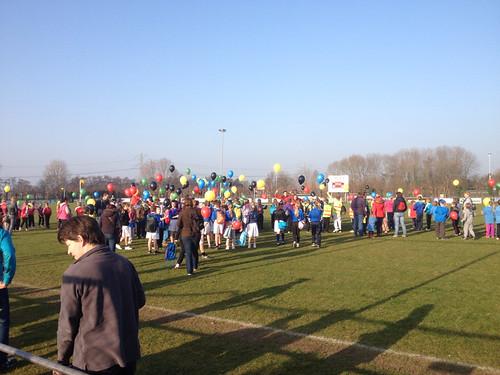 Heliumballonnen Opening Olympiade Abbenbroek