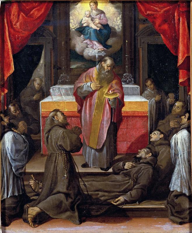 Agostino Carracci - The Last Communion of Saint Francis (c.1595)