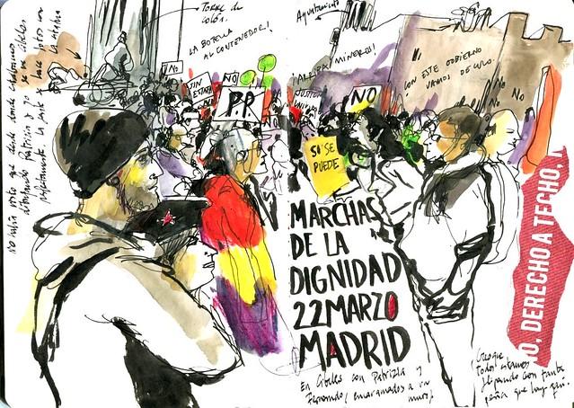 Marchas de la dignidad. 22M. Madrid.