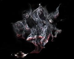 smoke, darkness, illustration,