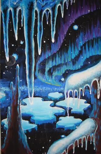 Aurora on a cold planet - Aurora boreala pe o planeta inghetata