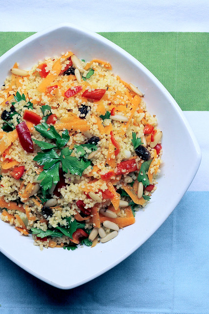 Red Pepper, Carrots and Parsley Couscous
