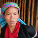 Silver Palaung tribal woman in the village of Wan Pauk, Shan state, Myanmar (Burma)
