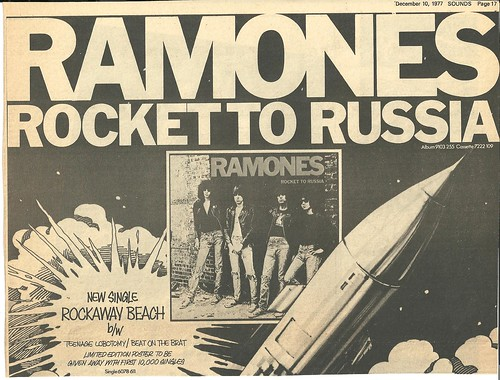 December 1978 Ramones Rocket To Russia Tour Ad (Top)
