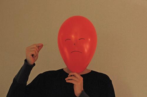 Face your fears Mr. Balloon Head