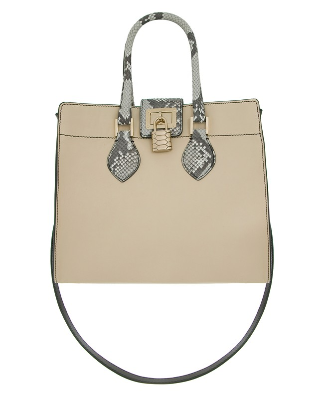 Roberto Cavalli 'Florence' Bag - opaque calf leather with python piping