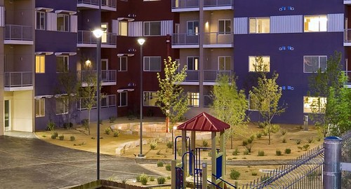 Abuquerque's Silver Gardens Apartments enjoy many smart growth features (photo courtesy of Jonathan Rose Companies)