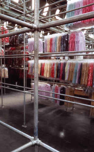 Industrial Warehouse Clothing Rack Design
