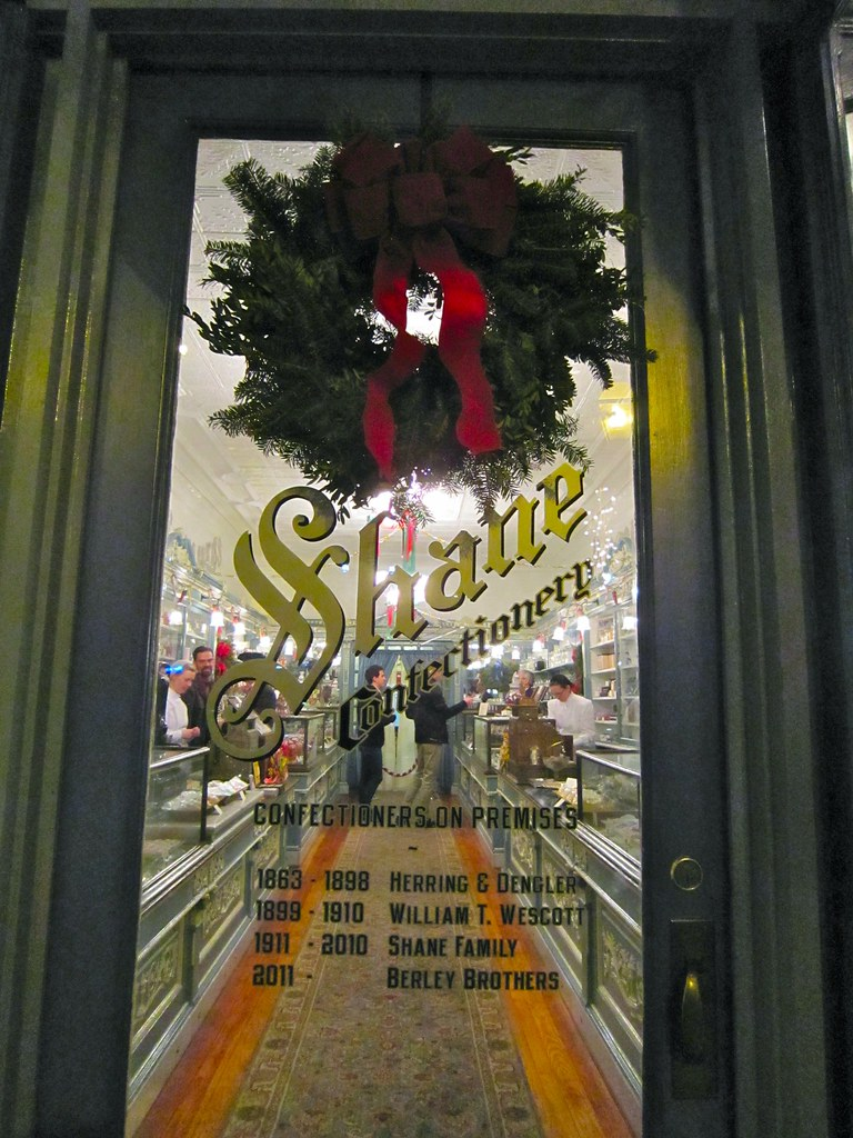 Doorway and Timeline - - Shane Confectionery Philadelphia PA