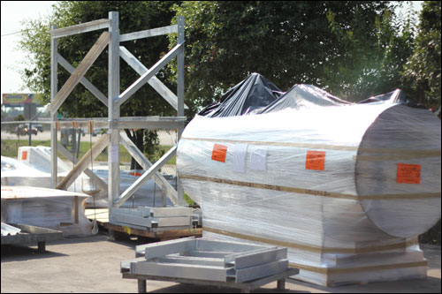 "48"" Diameter Stainless Steel Glycol Makeup Tank"