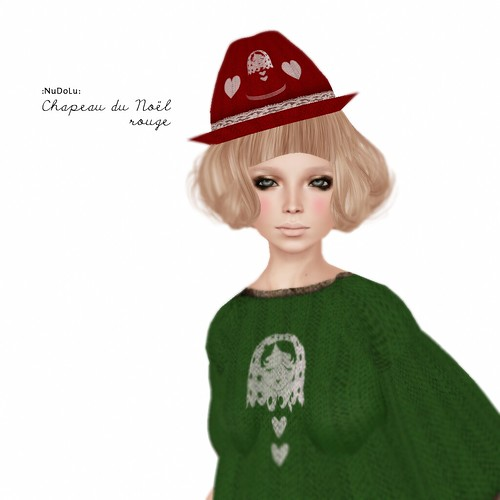 NuDoLu Chapeau du Noel rouge LB AD