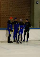 Gerrit tijdens schaatstraining in Deventer