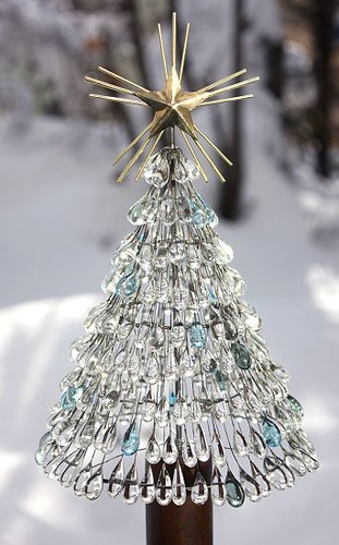 glass teardrop Christmas tree