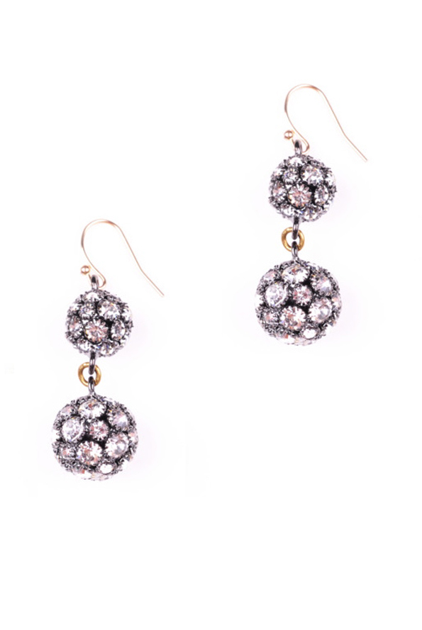 Double Deco Ball Earrings